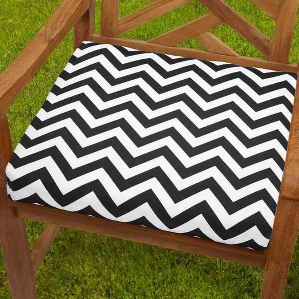 Remarkable Bristol 20 Inch Indoor Outdoor Black White Chevron Chair Cushion Gmtry Best Dining Table And Chair Ideas Images Gmtryco