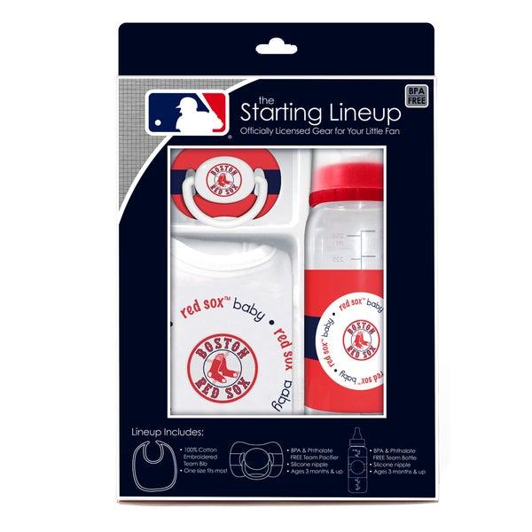 MLB Boston Red Sox 3-piece Baby Gift Set
