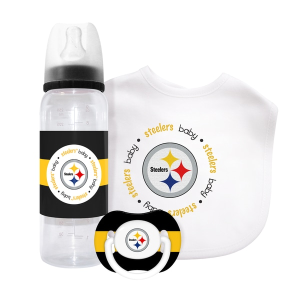 Baby Fanatic NFL Pittsburgh Steelers 3-piece Baby Gift Set