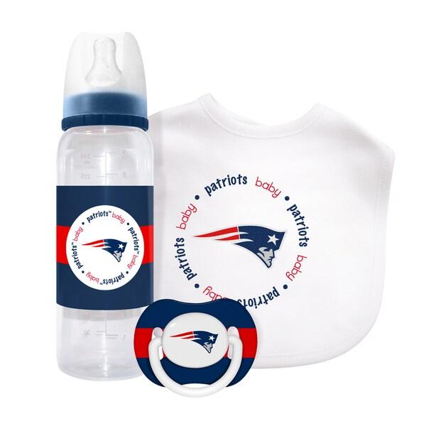 NFL New England Patriots 3-piece Baby Gift Set