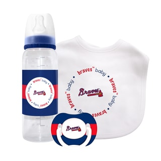 MLB Atlanta Braves 3-piece Baby Gift Set