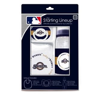 MLB Milwaukee Brewers 3-piece Baby Gift Set