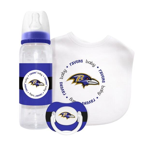 NFL Baltimore Ravens 3-piece Baby Gift Set