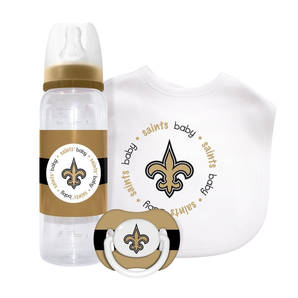 Baby Fanatic NFL New Orleans Saints 3-piece Baby Gift Set