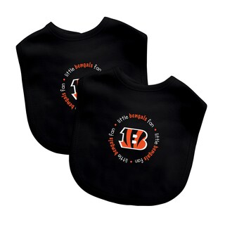 NFL Cincinnati Bengals 2-pack Baby Bib Set - Cincinnati Bengals