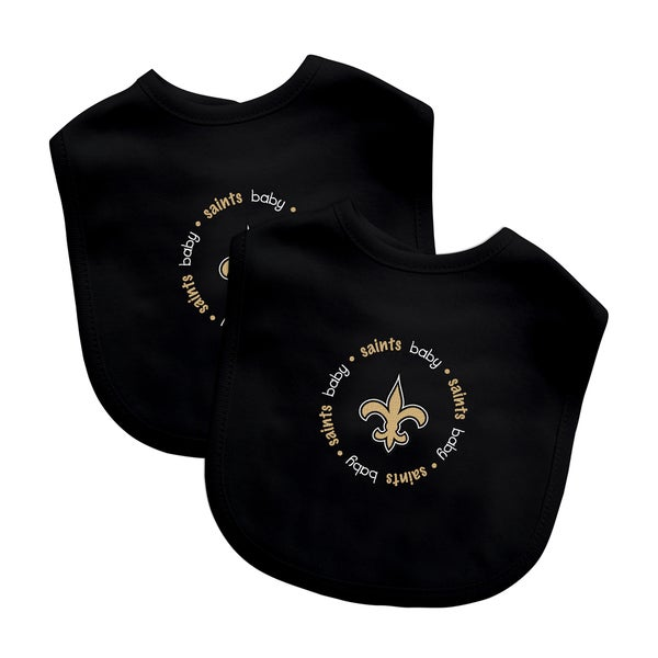 NFL New Orleans Saints 2-pack Baby Bib Set