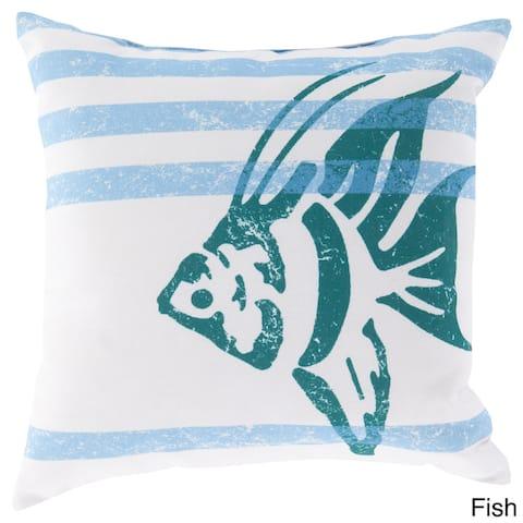 Faded Ocean Crits Outdoor Safe Decorative Throw Pillow