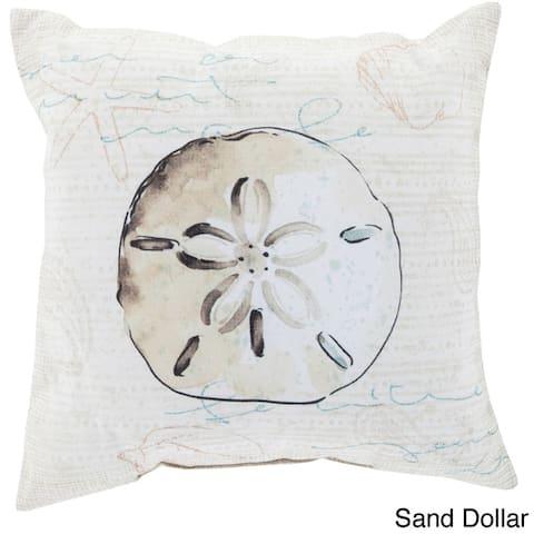 Seashells Outdoor Safe Decorative Throw Pillow