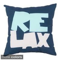 Relax Beach Indoor/Outdoor Decorative Throw Pillow