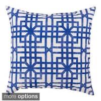 Blue Geometric Outdoor Safe Decorative Throw Pillows