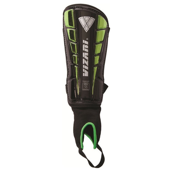 Vizari Sport 'Preston' Black/ Green Shin Guards