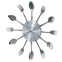 Hans Andersen Home Metal Fork and Spoon Wall Clock