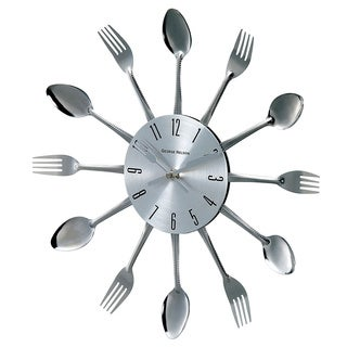 Hans Andersen Home Metal Fork and Spoon Wall Clock
