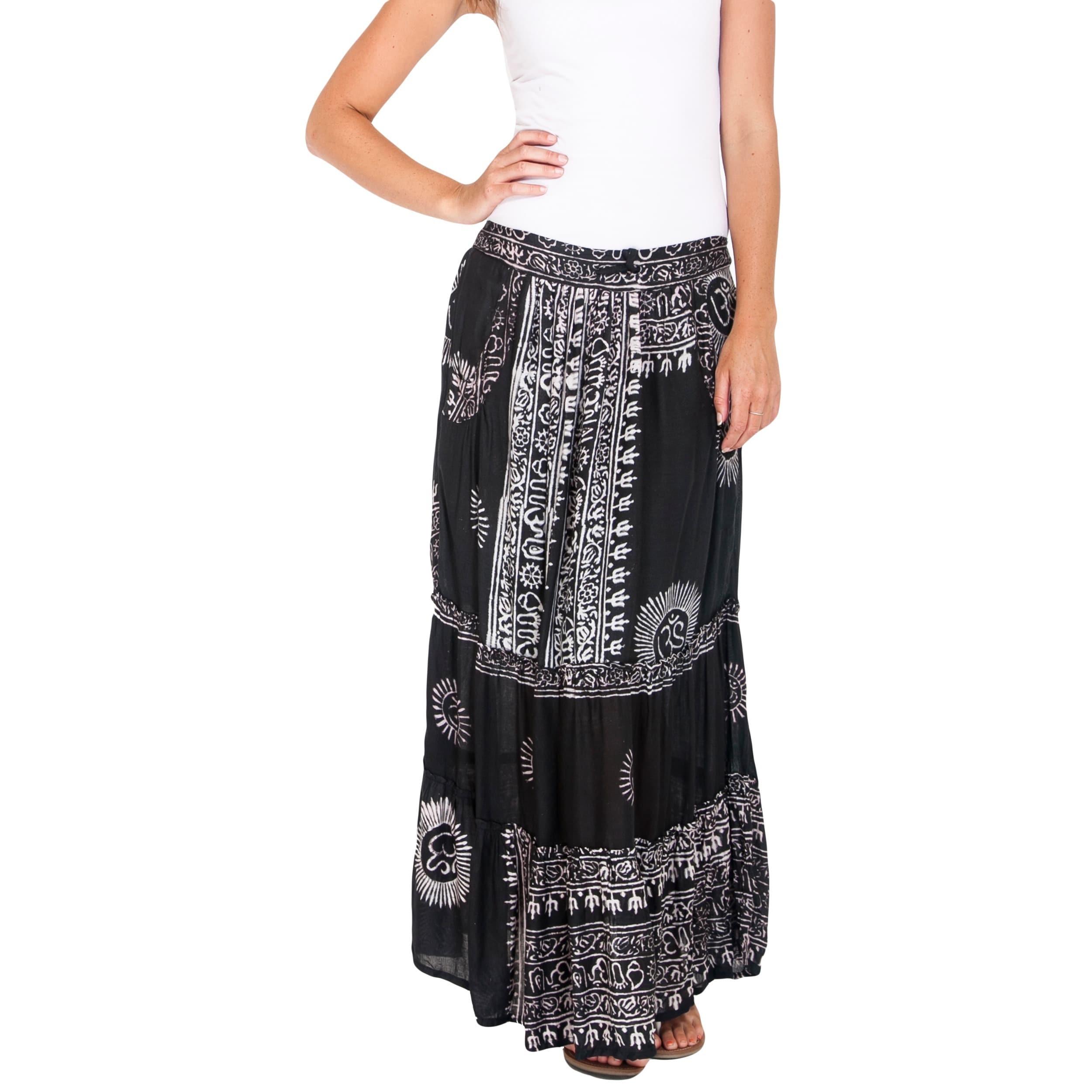 High Low Hippie Maxi Skirt Long Hippy Summer Skirt Gypsy Boho ...