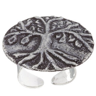 "Handmade Antiqued Silverplated ""Tree of Life"" Fashion Ring (India)"