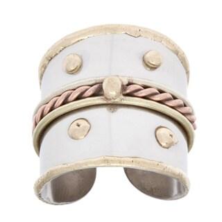 Handmade Mixed Metal Braided Fashion Ring (India)