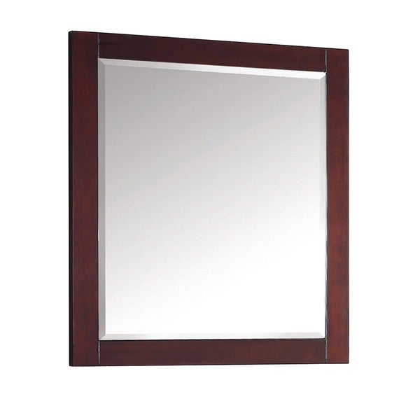 Shop Avanity Modero 28 Inch Mirror In Espresso Finish Free Shipping Today