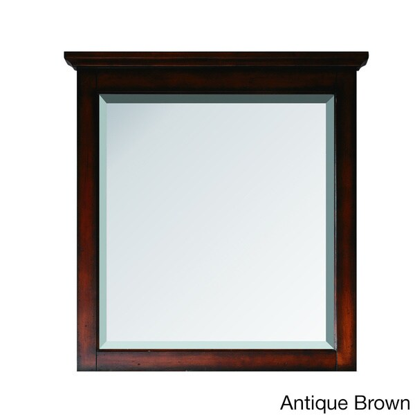 Avanity Tropica 31-inch Mirror in Antique Brown Finish - 30 in.