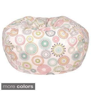 Starburst Pinwheel Pattern Extra Large Cotton Bean Bag Chair