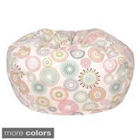 Starburst Pinwheel Pattern Small Cotton Bean Bag Chair