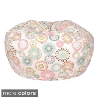Starburst Pinwheel Pattern Small Cotton Bean Bag Chair