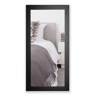 American Made Rayne Satin Black Wide Full Length Floor/ Vanity Mirror