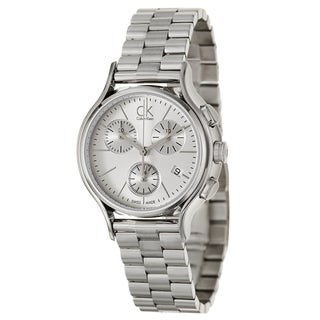 Calvin Klein Women's 'Skirt' Stainless Steel Chronograph Watch