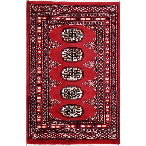 Handmade Herat Oriental Pakistani Bokhara Wool Rug (Pakistan) - 2'1 x 3'1