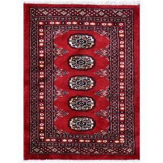Herat Oriental Pakistani Hand-knotted Bokhara Wool Rug (2'2 x 2'10)
