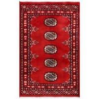 Handmade Herat Oriental Pakistani Bokhara Wool Rug (Pakistan) - 1'11 x 2'11