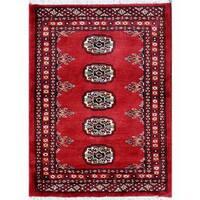 Herat Oriental Pakistani Hand-knotted Bokhara Wool Rug - 2'1 x 2'9