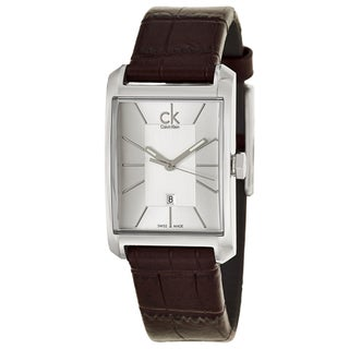 Calvin Klein Women's 'Window' Brown Leather Swiss Quartz Watch