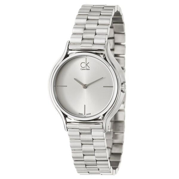 Calvin Klein Women's 'Skirt' Stainless Steel Swiss Quartz Watch
