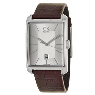 Calvin Klein Men's 'Window' Stainless Steel Brown Swiss Quartz Watch
