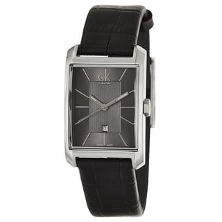 Calvin Klein Women's 'Window' Stainless Steel Black Swiss Quartz Watch