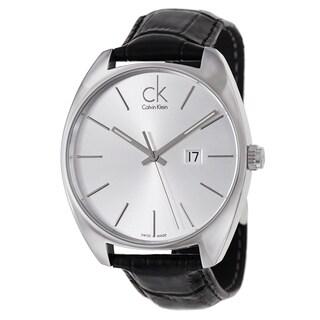 Calvin Klein Men's 'Exchange' Stainless Steel Black Swiss Quartz Watch