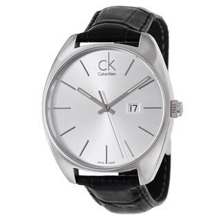 Calvin Klein Men's 'Exchange' Stainless Steel Black Swiss Quartz Watch|https://ak1.ostkcdn.com/images/products/8964806/P16174603.jpg?impolicy=medium