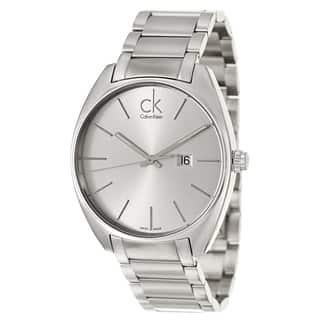 Calvin Klein Men's 'Exchange' Stainless Steel Swiss Quartz Watch|https://ak1.ostkcdn.com/images/products/8964807/Calvin-Klein-Mens-Exchange-Stainless-Steel-Swiss-Quartz-Watch-P16174604.jpg?impolicy=medium