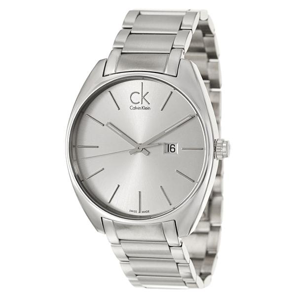 Calvin Klein Men's 'Exchange' Stainless Steel Swiss Quartz Watch - silver