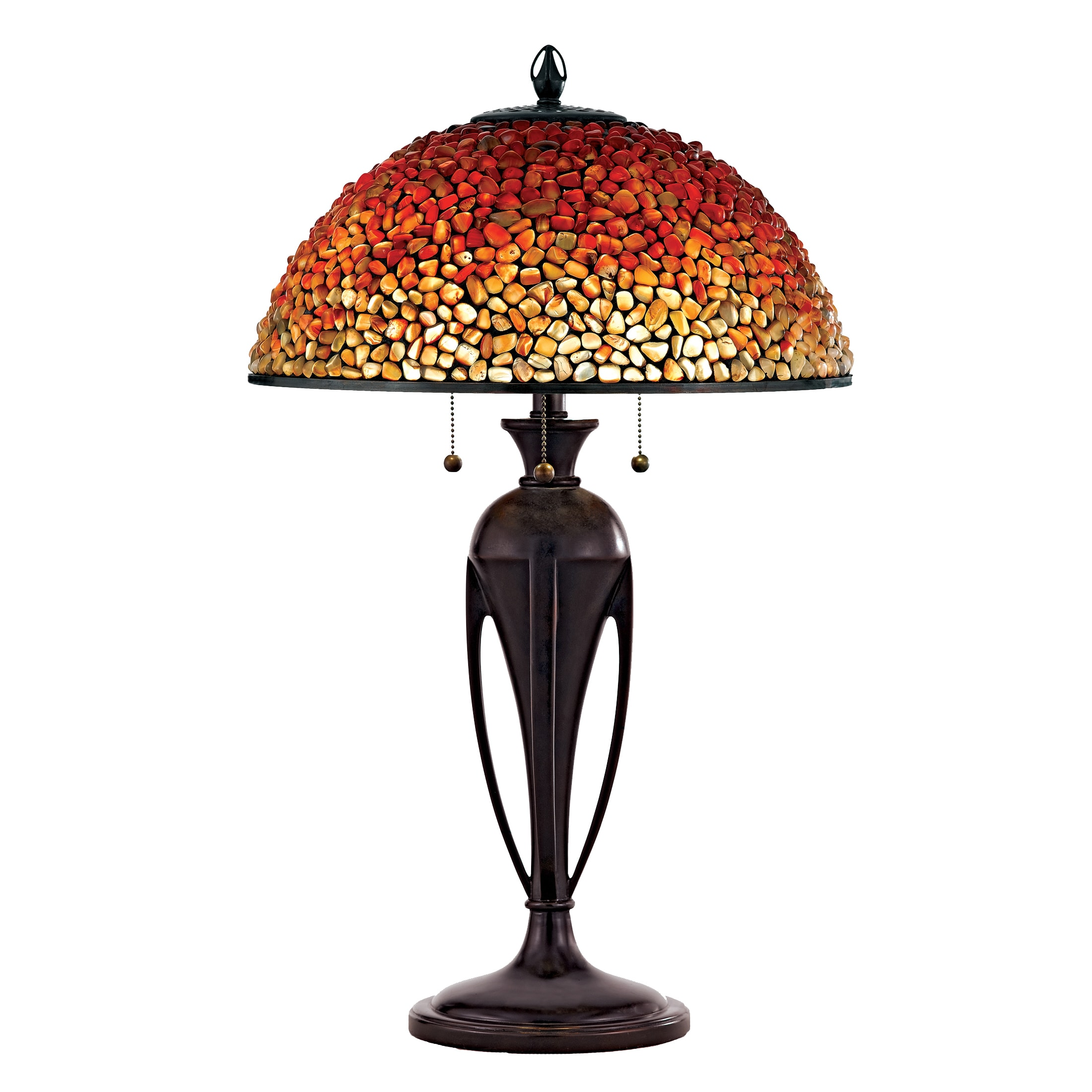 Quoizel Pomez with Burnt Cinnamon Finish Table Lamp