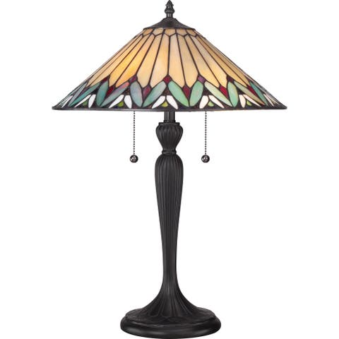 Quoizel Tiffany-style Pearson Table Lamp