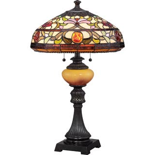 Quoizel table lamps for less overstock tiffany style jewel with imperial bronze finish table lamp aloadofball Image collections