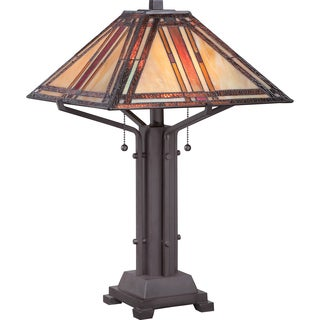 Tiffany Revere with Western Bronze Finish Table Lamp