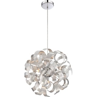 Platinum Collection Ribbons 5-light with Millenia Finish Pendant