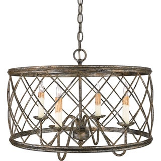 Dury with Century Silver Leaf Finish 4-light Pendant