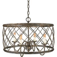 Quoizel Dury with Century Silver Leaf Finish 4-light Pendant