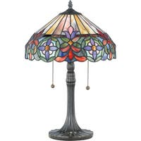 Gracewood Hollow Trebeshina Tiffany-style Connie with Vintage Bronze Finish Table Lamp