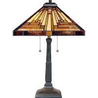 Gracewood Hollow Qosja Vintage Bronze Finish Table Lamp
