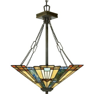 Quoizel Inglenook with Valiant Bronze Finish 3-light Pendant