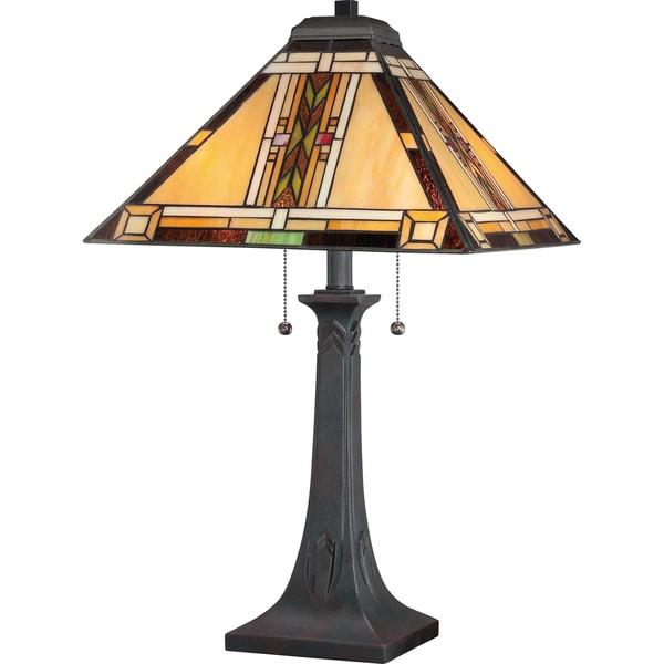 Quoizel Southwestern with Valiant Bronze Finish Table Lamp
